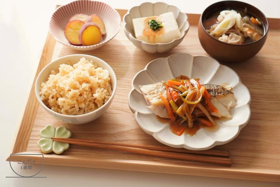 【鱈の甘酢あんかけの献立】副菜・付け合せレシピ